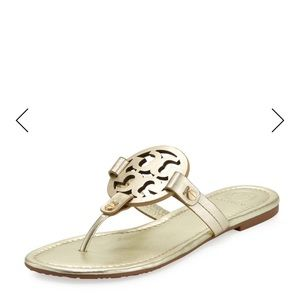 26fbe9cee91cc7 Tory Burch Shoes - Miller Sandal in Gold Spark